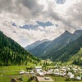 Fyrkantig panorama av den Aru dalen, Jammu and Kashmir, Indien arkivbild