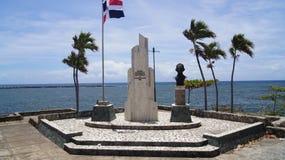 Fyrkantig patriotisk president Juan Bosch för monument, Arkivfoto