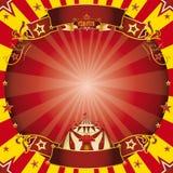 Fyrkantig rött för cirkus och gult Royaltyfri Fotografi