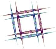 Fyrkantig ram av skarpa spjut med ädelstenar royaltyfri illustrationer