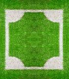 Fyrkantig ram på gräsjordning Arkivfoto