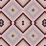 Fyrkantig sömlös textur med rosa färger och brunt stock illustrationer
