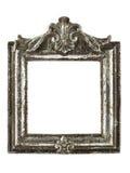 Fyrkantig silverbildram med clippingbanan Arkivfoto