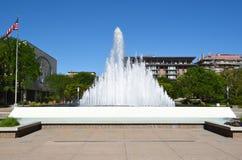 Fyrkantig springbrunn för tempel Fotografering för Bildbyråer