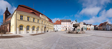fyrkantig town för panorama Royaltyfria Bilder