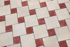 Fyrkantig trottoarbakgrund Royaltyfri Fotografi