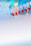 Fyrkantig vetenskaplig bakgrund med textutrymme i blått och rött Royaltyfria Foton