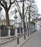 Fyrkantiga du Petit Sablon i Bryssel, Belgien Royaltyfria Bilder