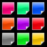 fyrkantiga etiketter Fotografering för Bildbyråer