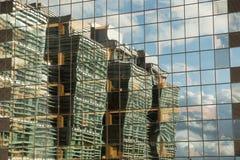 fyrkantiga fönster Arkivfoto