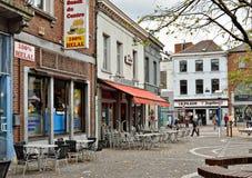 Fyrkantiga Jules Mansart, La Louviere i Belgien Royaltyfri Bild