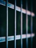 Fyrkantiga livliga stänger för fängelsecell Arkivfoto