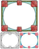 Fyrkantiga rosor Arkivbild
