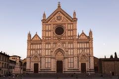 Fyrkantiga Santa Croce, Florence Arkivfoto