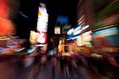 fyrkantiga tider för natt Arkivfoto