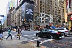fyrkantiga tider stad New York Royaltyfri Bild