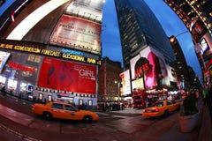 fyrkantiga tider stad New York Royaltyfria Foton