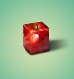 Fyrkantigt äpple Fotografering för Bildbyråer