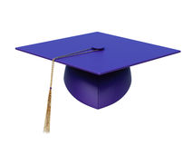 Fyrkantigt akademiskt lock på en vit bakgrund framförande 3d Royaltyfri Foto