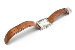 fyrkantigt armbandsur för damtoalett royaltyfri fotografi