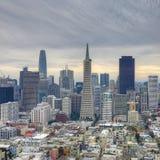 Fyrkantigt format av San Francisco, Kalifornien centrum Royaltyfri Bild