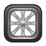 fyrkantigt hjul stock illustrationer