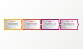 Fyrkantigt infographic för vektor Affären diagrams, presentationer och diagram Bakgrund Arkivfoton