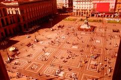fyrkantigt stads- Fotografering för Bildbyråer