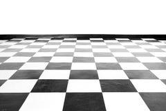 Fyrkantigt svartvitt golv för tappning Royaltyfri Fotografi