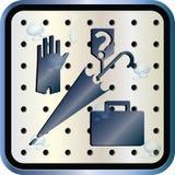 fyrkantigt tecken för metall royaltyfri illustrationer