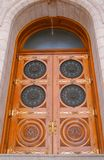 fyrkantigt tempel för dörr Royaltyfria Foton