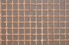Fyrkanttabeller på keramisk tillbaka sida Royaltyfri Fotografi