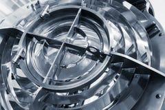 Fyrlampan med exponeringsglascirklar, slösar tonat Royaltyfri Foto