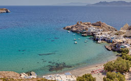Fyropotamos village, Milos island, Greece Royalty Free Stock Photo