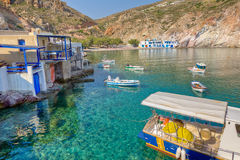 Fyropotamos village, Milos island, Greece Stock Photos