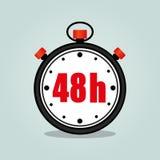 Fyrtioåtta timmar stoppur Arkivfoton