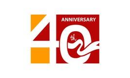Fyrtio år årsdag för band för gåvaask Arkivfoton