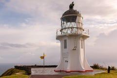 Fyrudde Reinga på den norr ön av Nya Zeeland Arkivbild