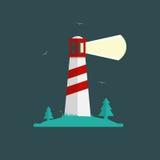 Fyrvektorillustration i plan design Stock Illustrationer