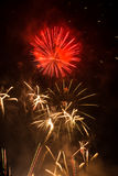 Fyrverkeri-Fuegosartificiales Arkivfoton