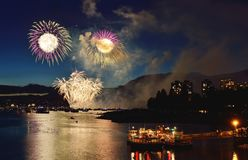 Fyrverkeri Vancouver 2016 Royaltyfria Bilder