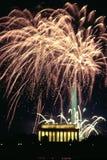 FyrverkeriberömWashington DC Liberty Memorial royaltyfri fotografi