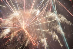 2017 fyrverkerier Royaltyfria Foton