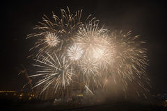 Fyrverkerier dag för nytt år 2014 Royaltyfri Bild