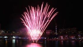 Fyrverkerier Darling Harbour Royaltyfri Foto