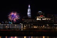 Fyrverkerier Hartford connecticut för nytt år royaltyfri bild
