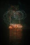 Fyrverkerier - Ignis Brunensis Fotografering för Bildbyråer
