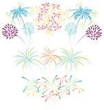 Fyrverkerier isolerade den färgrika illustrationen Royaltyfria Foton