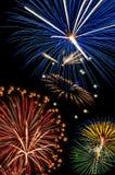 Fyrverkerier July4th, självständighetsdagen Arkivfoto