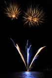 fyrverkerier lausanne pyrotechnic switzerland Royaltyfri Foto